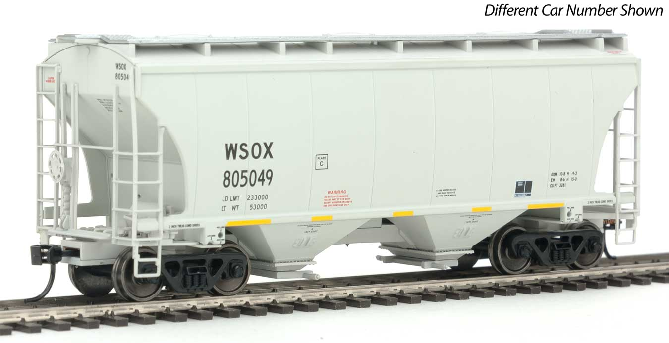 HO 39' Trinity 3281 2-Bay Covered Hopper - Ready-to-Run -- Wells Fargo First Union Rail WSOX #805008