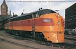 EMD FP7 - F7B Standard DC -- Milwaukee Road #92A, 92B (early orange, maroon with Running Hiawatha logo)