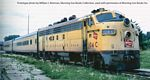 EMD FP7 - F7B Standard DC -- Milwaukee Road #102A, 98B (yellow, gray, red)