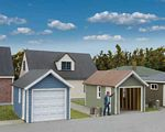 Single Car Garage 2-Pack -- Kit - Each: 2-5/8 x 1-5/8 x 1-11/16