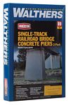 Single-Track Railroad Bridge Concrete Piers pkg(2) -- Kit - 5-1/8 x 1-1/8 x 3-3/4