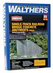 Single-Track Railroad Bridge Concrete Abutments pkg(2) -- Kit - 4-9/16 x 8-9/16 x 4-7/16
