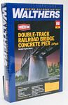 Double-Track Railroad Bridge Concrete Pier 2-Pack -- Kit 5-7/16 x 1-1/4 x 5-1/8