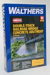 Walthers HO Double-Track Railroad Bridge Concrete Abutment 2-Pack