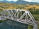 Arched Pratt Truss Railroad Bridge -- Single-Track - Kit - 23 x 3-1/16 x 5-1/4