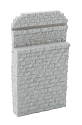Single-Track Railroad Bridge Stone Abutment - Resin Casting -- Approximate Dimensions: 3-1/4 x 5/8 x 5-3/4