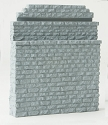 Double-Track Railroad Bridge Stone Abutment - Resin Casting -- Approximate dimensions: 5 x 3/4 x 5-7/8