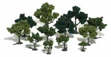 Woodland Scenics Realistic Trees Kits(TM) - Green Deciduous -- Mixed Green - 3/4 to 3