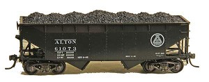 HO 50T AAR Standard 2-Bay Offset Open Hopper - Alton #61073