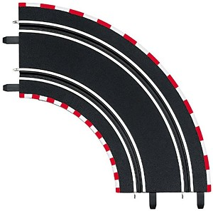Carrera 61603 1/90 Curve (2 pieces), For use only with Carrera GO!!!