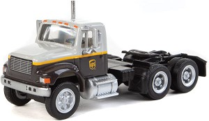 Walthers HO International(R) 4900 Dual-Axle Semi Tractor Only - Assembled -- UPS Freight(SM) (gray, gold, brown)