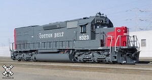 Rivet Counter HO Scale EMD SD40T-2, Cotton Belt (R3), 8323/DCC & Sound Equipped
