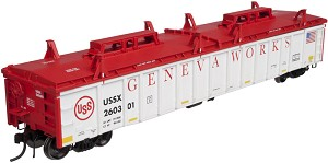 Thrall 2743 Covered Gondola - Ready to Run - Master(R) -- US Steel Geneva Works #260367 (white, red)