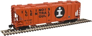 PS-4000 3-Bay Covered Hopper - Ready to Run -- Illinois Central Gulf #728071