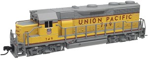 EMD GP35 Phase Ib w/Dynamic Brakes - Standard DC - Master(R) -- Union Pacific #744 (Armour Yellow, gray, Large Lettering)