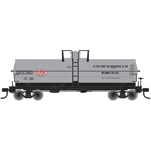 11,000-Gallon Tank Car w/Platform - Ready to Run - Master(R) -- DuPont #3260 (gray, black, white, red)