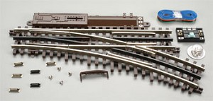 Atlas O 21st  Century Track System(TM) Nickel Silver Rail w/Brown Ties - 3-Rail -- O-45 Switch Right Hand