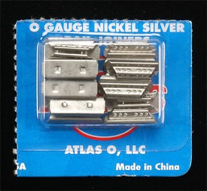 21st Century Track System(TM) Nickel Silver Rail w/Brown Ties - 3-Rail -- Rail Joiners - Nickel Silver pkg(16)