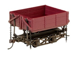 Wood Side-Dump Car 3-Pack - Ready to Run - Spectrum(R) -- Painted, Unlettered (Boxcar Red)