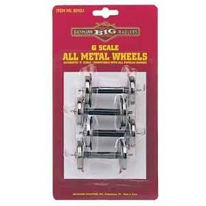G Scael Metal Wheel Set pkg(4) -- Large - 1-1/4