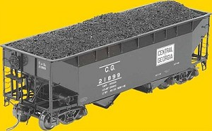 50-Ton AAR Standard Offset 2-Bay Open Hopper w/Wine Latches -- Central of Georgia #21899 (black)