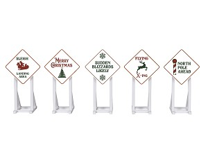 Lionel O Christmas Signs 5-Pack