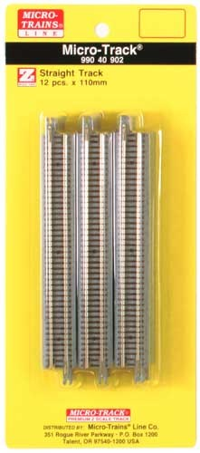 Z Micro-Track Code 55 Nickel Silver Rails w/Dual Joining System (DJS)(TM) -- 4-11/32