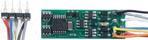 Decoders -- N14SRP - Generic, Thin, 1-Amp 4-Function w/8-Pin NMRA Plug