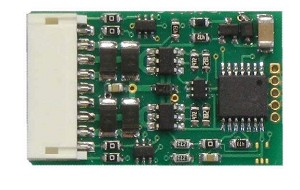 D13J 4-Function DCC Control Decoder w/9-Pin DCC Plug -- 10-Pack: 1.03 x .63 x .185