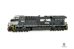N Scale, Rivet Counter  Tier 4 GEVo ET44AC, w/DCC & Sound Norfolk Southern #3649