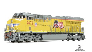 Rivet Counter HO Scale GE Tier 4 GEVo, DC/DCC Ready Union Pacific #2672