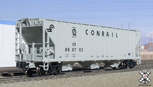 Rivet Counter N Scale PS-4785 Covered Hopper, Conrail/Quality/Gray (R2) – 888792