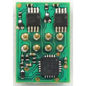DP2X 2-Function DCC Decoder w/Direct 8-Pin NMRA Plug On Board - Control Only -- Direct Board Mounted Plug .462 x .687 x .12