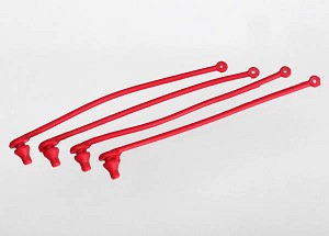 Body clip retainer, red (4)
