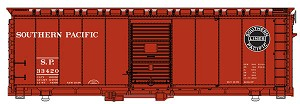 40' AAR 1944 Boxcar - Ready to Run -- Southern Pacific(TM) #33420 (Boxcar Red, black Lines Logo)