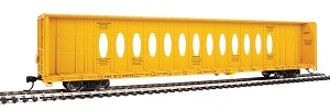 Walthers Mainline HO Scale 72' Centerbeam Flatcar with Opera Windows - Ready to Run -- Canadian National (CNA) #623053