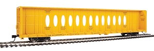 Walthers Mainline HO Scale 72' Centerbeam Flatcar with Opera Windows - Ready to Run -- Canadian National (CNA) #623029