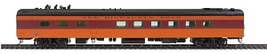 85' Milwaukee Road 48-Seat Diner - Ready to Run -- Twin Cities Hiawatha (orange, maroon, black with decals)