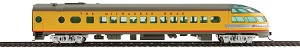 Walthers HO 85' Milwaukee Road Skytop Lounge Rapids Series - Ready to Run -- Twin Cities Hiawatha (yellow, gray, red with decals)