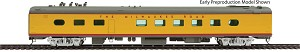 85' Milwaukee Road 48-Seat Diner - Ready to Run -- Twin Cities Hiawatha #123 (yellow, gray, red)