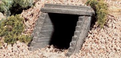 Woodland Scenics Culverts (Hydrocal Plaster Castings) pkg(2) -- Timber