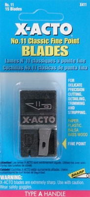 Xacto #11 Knife Blade Dispenser -- pkg(15)