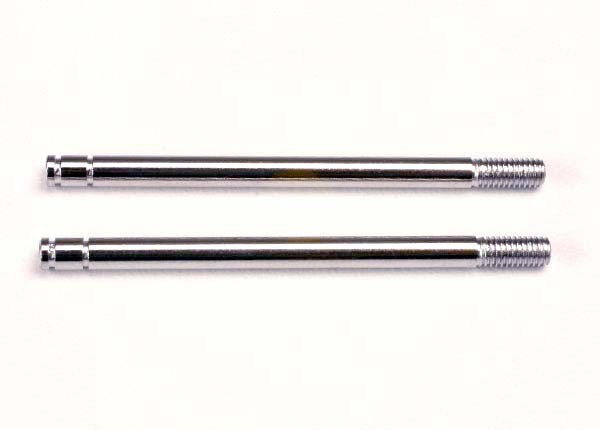 Traxxas 1664 Shock shafts ,  steel ,  chrome finish (long) (2)