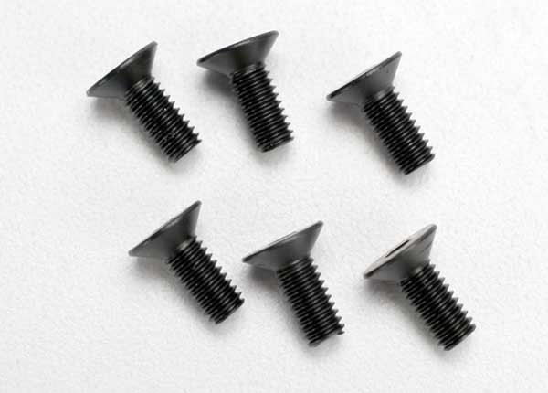 Traxxas 2535 Screws ,  4x10mm countersunk machine (hex drive) (6)